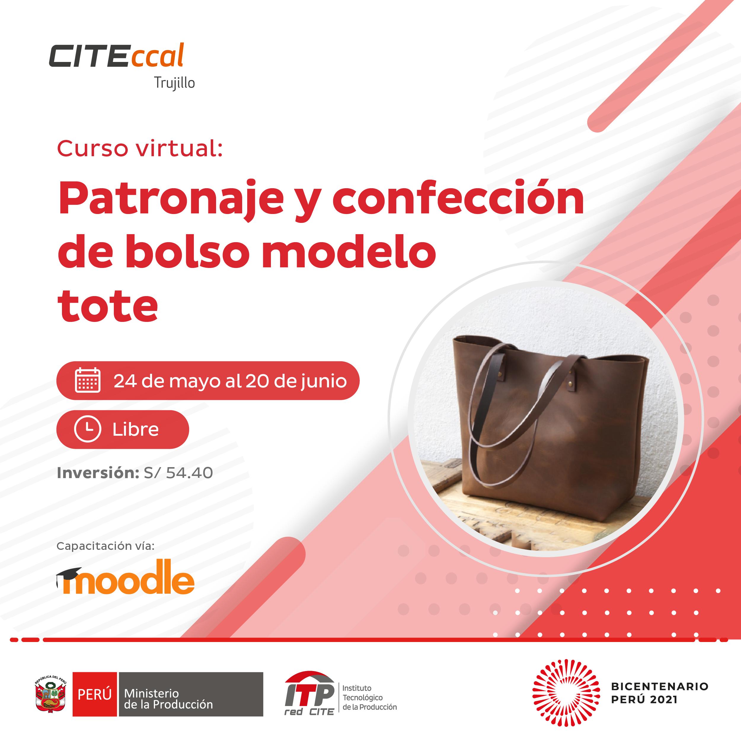 Patronaje y confección de bolso modelo Tote copia 1