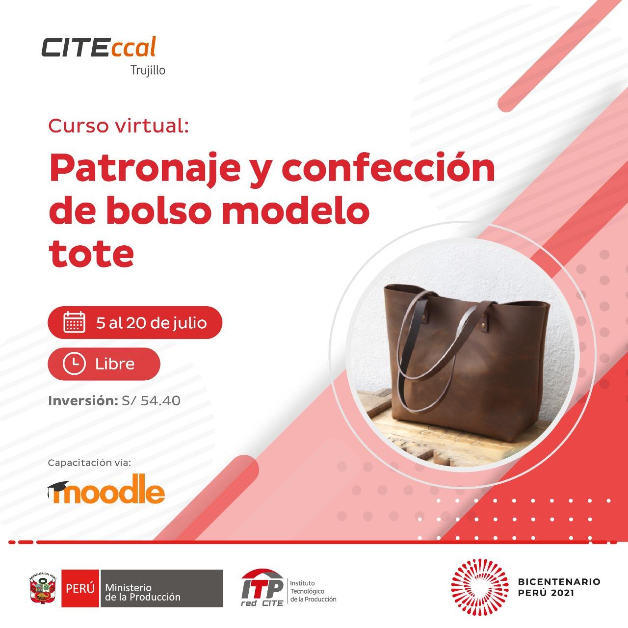 Patronaje y confección de bolso modelo Tote
