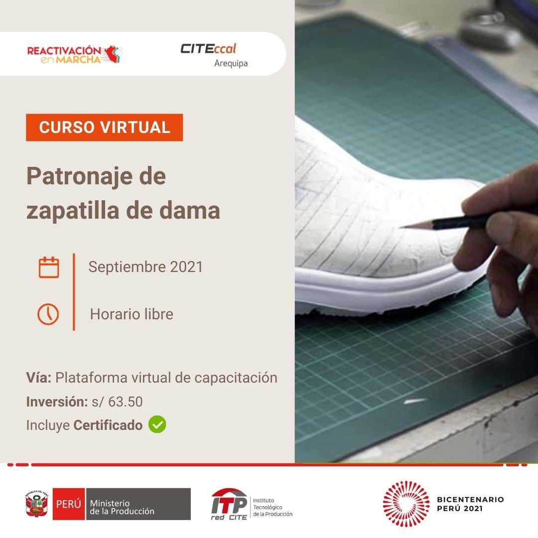 PATRONAJE DE ZAPATILLA DE DAMA