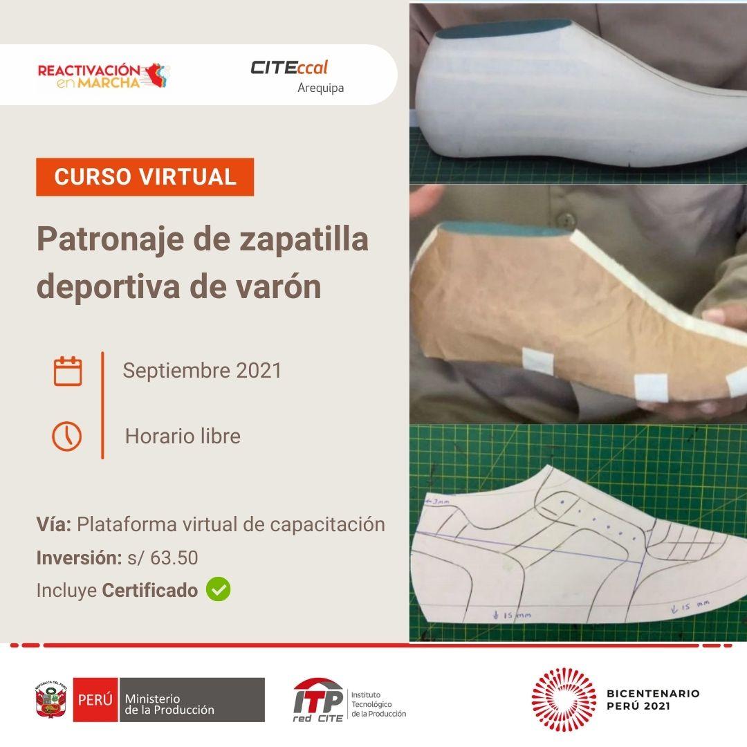 PATRONAJE DE ZAPATILLA DEPORTIVA DE VARÓN