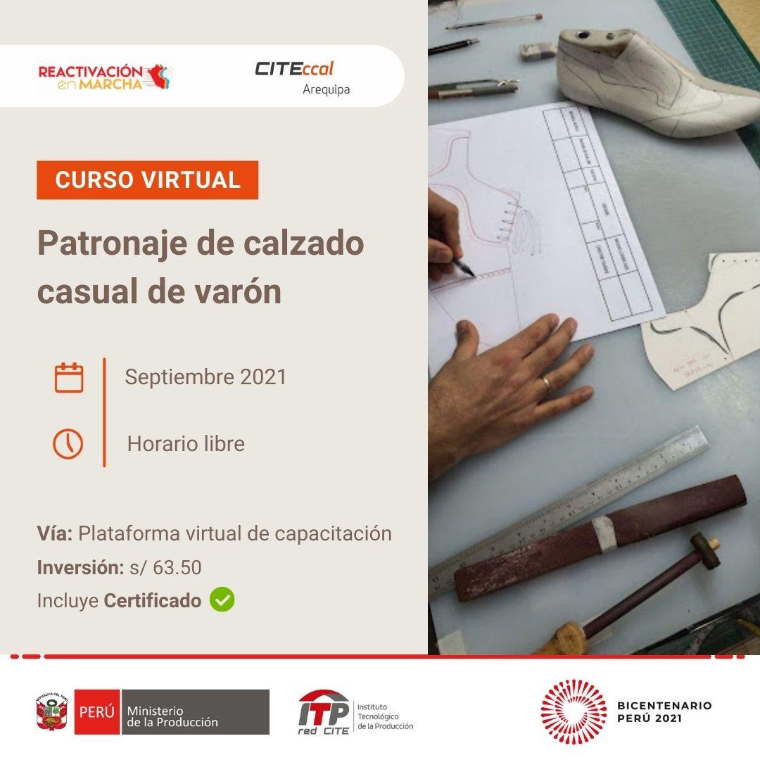 PATRONAJE DE CALZADO CASUAL DE VARÓN