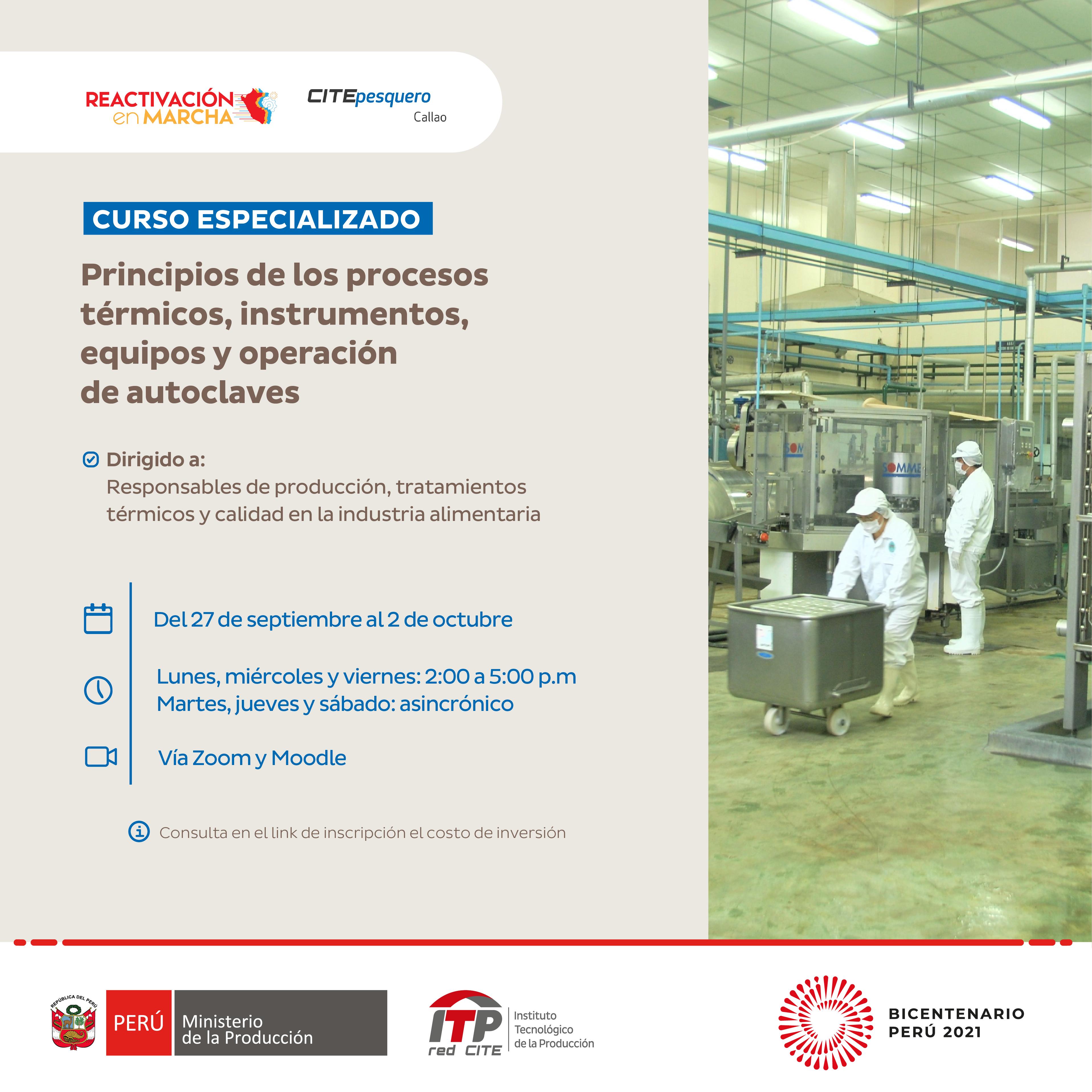 Principios de los procesos térmicos, instrumentos, equipos y operación de autoclaves