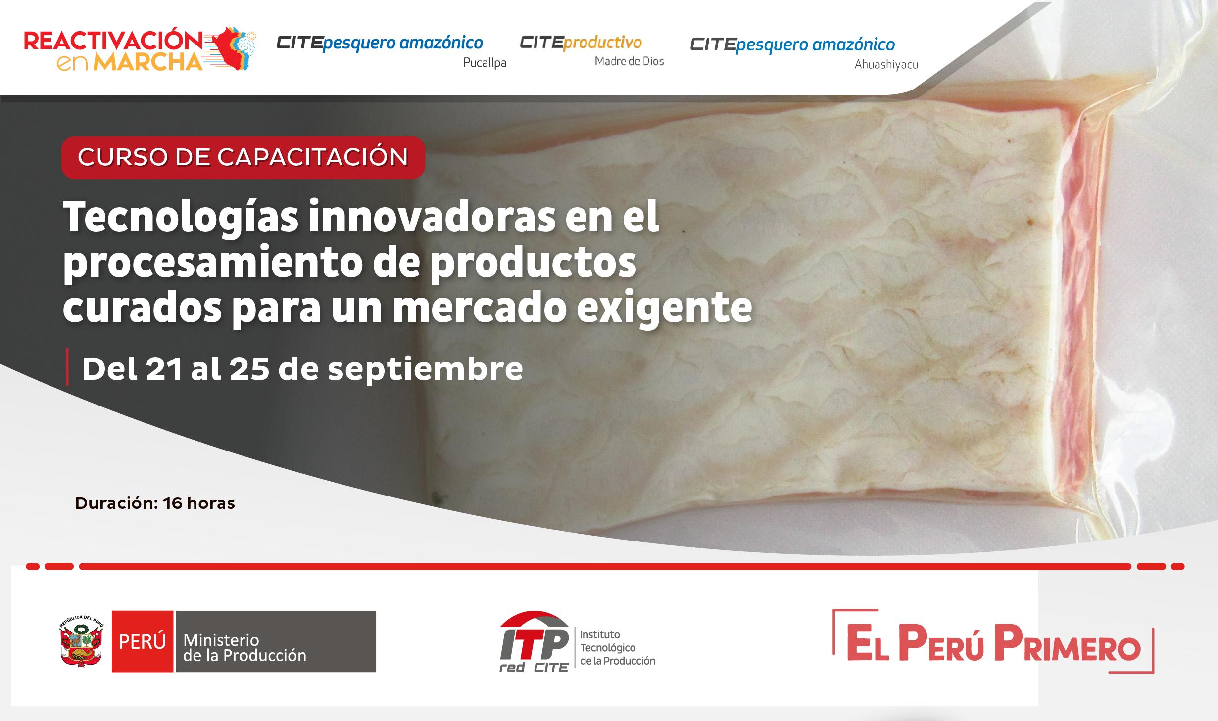 Tecnologías innovadoras en el procesamiento de productos curados amazónicos para un mercado exigente